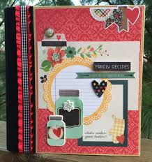 scrapbook album kits recipe album kit or premade scrapbook mini album pre cut with