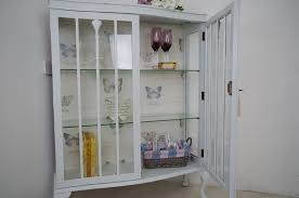 Vintage Display Cabinets Vintage Shabby Chic Display Cabinet Painted Vintage Antique