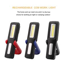 rechargeable magnetic work light portable cob led flashlight magnetic work light usb rechargeable