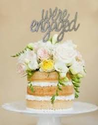 a and we re cake topper cake topper we re engaged words silver glitter other colours