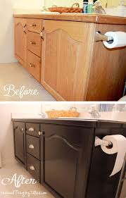 Diy Cabinet Makeover With Glaze by Give Your Bathroom Vanity A Facelift Builder Grade Bathroom
