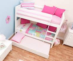 White Bunk Bed With Trundle Stompa Classic White Bunk Bed With Trundle Bed