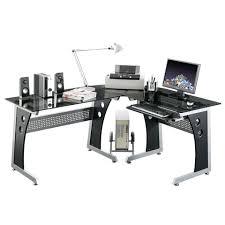 Office Desk Essentials Essentials Glass Corner Office Desk Officesupermarket Co Uk
