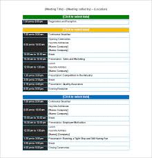 conference schedule template 10 free word excel pdf format