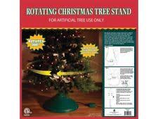 spinning rotating artificial tree stand revolving