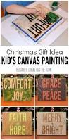 kid u0027s canvas art painting an easy christmas gift idea