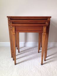 mcm furniture mcm nesting tables gingham style hometalk