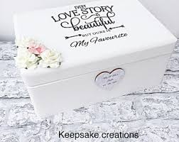wedding gift keepsake box wedding memory box etsy