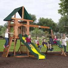 backyard discovery santa fe wood swing set kid activities