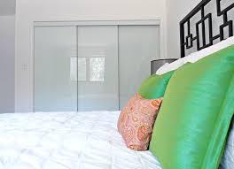 Sliding Glass Closet Door New White Glass Sliding Closet Doors In The Bedroom Dans Le