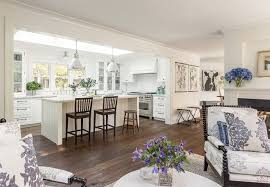 Kitchen Living Space Ideas Benjamin Moore Simply White On Cabinets Walls Trim Subway