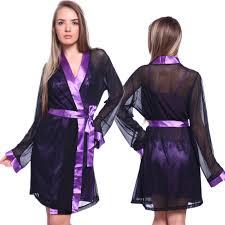 robe de chambre femme satin robe de chambre nuisette satin dentelle m l xl xxxl violet femme