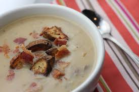 roasted potato and fennel soup recipe spoon and chair