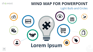 free mind map for powerpoint light bulb and circles charts