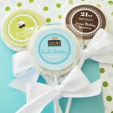 Edible Birthday Favors by Personalized Birthday Lollipop Favors Wedding Lollipops Edible