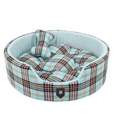 Kong Dog Beds Classic Preppy Dog Bed Blue Cute Beds For Small Dogs At