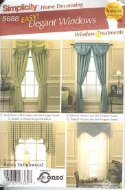 sewing patterns home decor simplicity window treatment covering curtains drapes home decor