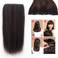 one clip in hair extensions 5 clip in remy human hair extensions thick