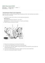 how to change 2005 aveo manual transmission fluidl