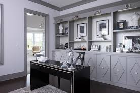 Black Home Office Furniture 21 Gray Home Office Designs Decorating Ideas Design Trends