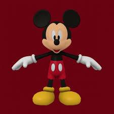 mickey mouse 3d model obj dae