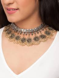 neck necklace gold images Necklace buy necklaces for men women online in india myntra jpg
