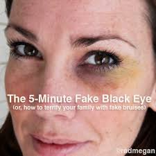 you can get the same look with eye shadow but when i found this bruise wheel fx makeup series black