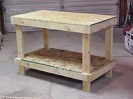 Build Your Own Work Bench Workshop Bench Treenovation