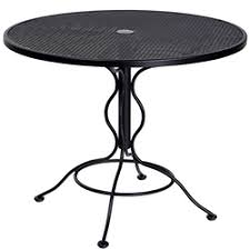 36 Inch Patio Table Woodard Mesh Tables Woodard Wrought Iron Tables