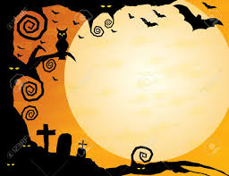 cartoon halloween background halloween background gnarled tree with owl spooky eyes flying