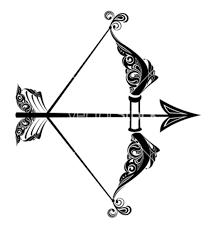 unique black archer tattoo stencil by galina