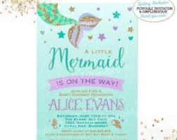 mermaid themed baby shower baby shower invitation cards mermaid baby shower invitations