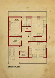 house floor plan by 360 design estate u2013 7 5 marla house