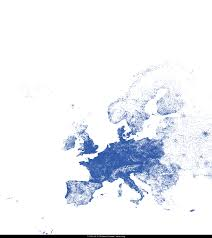 Eu Map Europe Map Drawn From Ip Locations Europe