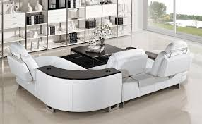 Leather Sofa Sectional Recliner by Furniture Using Curved Sectional Sofa For An Exciting Living Room