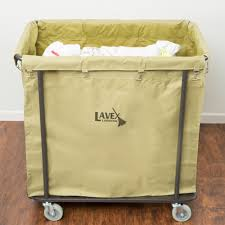 Canvas Laundry Hamper by Lavex Laundry Cart Trash Cart 14 Bushel Metal Frame With Canvas Bag