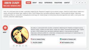 Free Resume Html Template 30 Best Resume U0026 Cv Html Templates 2016 Designmaz