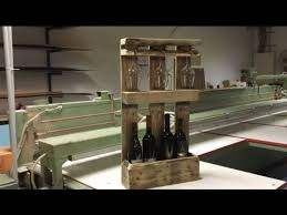 how to build pallet wine rack youtube