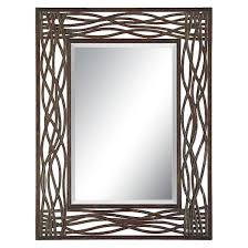 Uttermost Mirrors Free Shipping Rectangle Dorigrass Metal Decorative Wall Mirror Brown Uttermost
