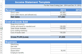 Simple Profit And Loss Excel Template Sle Profit And Loss Statement Excel Resume Templates