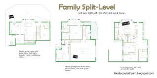 split floor plan plans split floor house plans front color elevation view for level