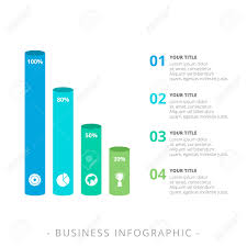 Four Column Chart Template by Editable Template Of Vertical Bar Chart With Four 3d Bars With