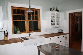 Kitchen  Beadboard Backsplash Dark Cabinets Window Treatments - Bead board backsplash