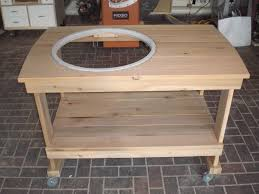 how to build a weber grill table weber grill cart by thechucker lumberjocks com woodworking