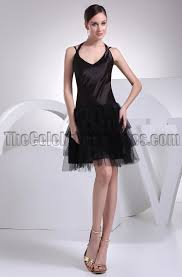cute halter a line little black dress party dresses