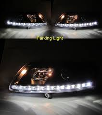 a6 c6 4f 2004 2008 04 08 projector led r8look headlight black for