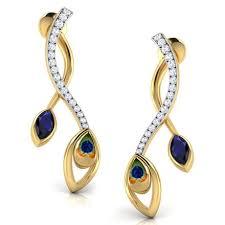 fashion earrings entwined peacock fashion earrings jewellery india online