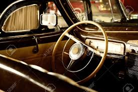 Brown Car Interior Retro Car Interior Stock Photo Picture And Royalty Free Image