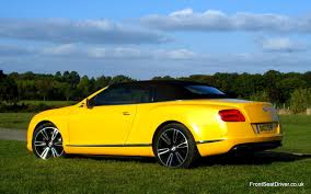 bentley yellow bentley continental gt v8 convertible 2012 rear roof up u2013 front