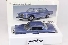 autoart diecast 1 18 scale mercedes benz 280c coupe blue model car
